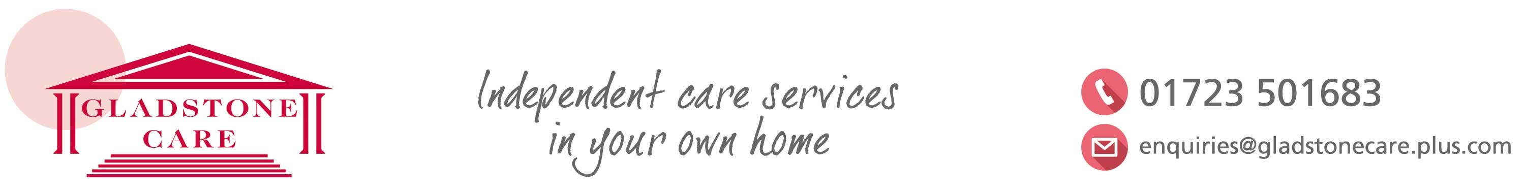 Gladstone Care provide independent care services in your own home, in the North Yorkshire area, scarborough, Filey Pickering